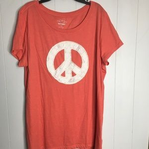 Old Navy Appliqué Peace Sign T-shirt